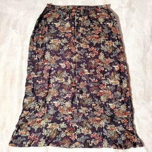 Vintage Japanese Arbor Pagoda print maxi skirt